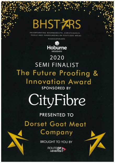 BH Stars Award Certificate 2020
