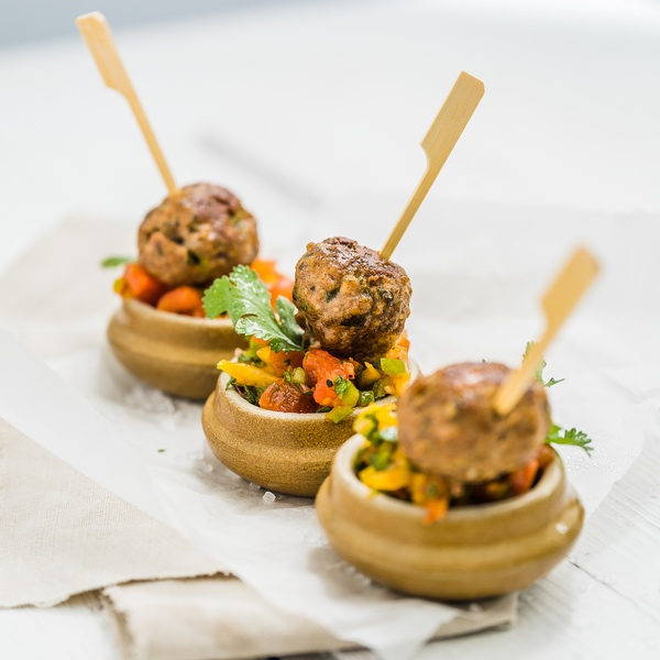 Goat Meatballs With Salsa