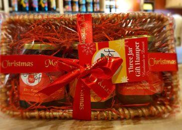 A jar of 3 pack Christmas Hamper