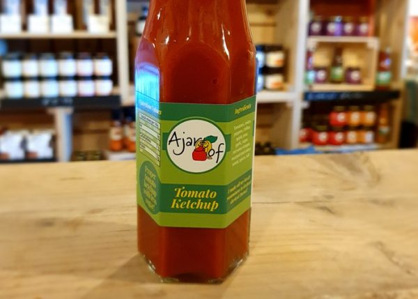 A jar of Tomato ketchup Savoury Sauces